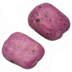 Ceramic Rectangle Baby Pink Large Pebble Beads 30mm PK2