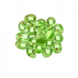 10mm Light Green Handmade Indian Glass Drop Beads PK20