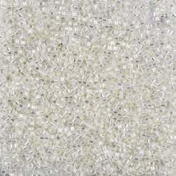 Miyuki Delica Seed Beads Silver Lined Crystal 7.2g
