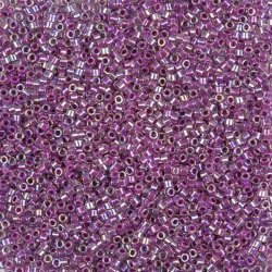 Miyuki Delica Seed Beads Size 11 Lined Magenta AB 7.2g