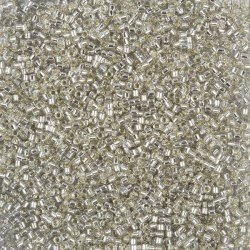 Miyuki 11 Delica Seed Beads Silver Lined Gray Mist 7.2g