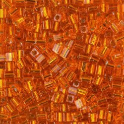 Miyuki Silver Lined Orange 4mm Square Seed Beads 20g