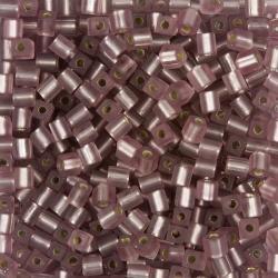 Matte Silver Lined Smokey Amethyst 4mm Square Beads 20g