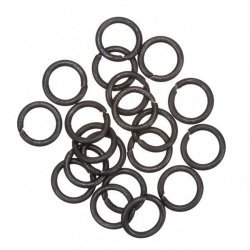Grey Black Jump Rings 10mm 1.2mm Thick PK20
