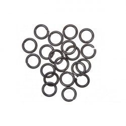 Grey Black Jump Rings 6mm 1mm Thick PK20