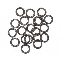 Grey Black Jump Rings 8mm 1.2mm Thick PK20
