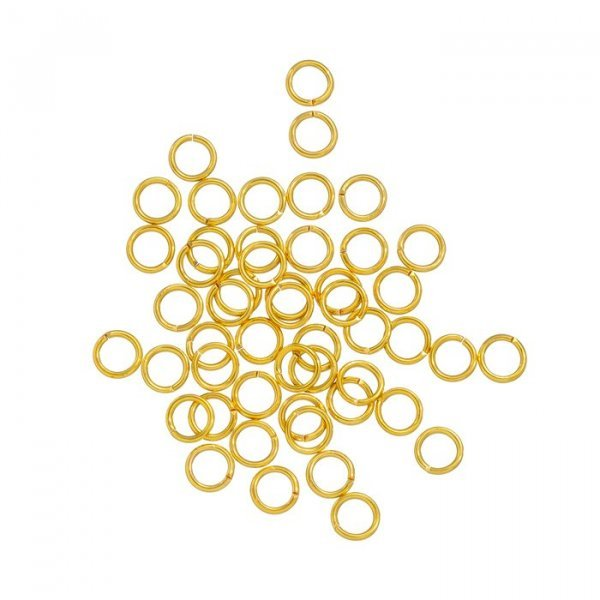 Gold Plated 5mm Jump Rings 0.8mm Thick PK50