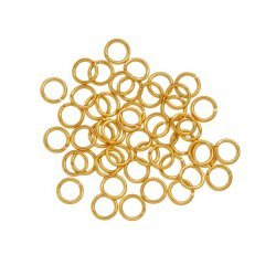 Gold Plated 6mm Jump Rings 0.9mm Thick PK50