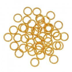 Gold Plated 8mm Jump Rings 1.2mm Thick PK50