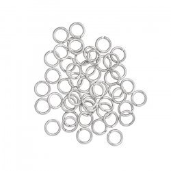 Silver Plated 6mm Jump Rings 0.9mm Thick PK50