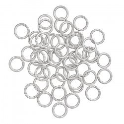 Silver Plated 8mm Jump Rings 1.2mm Thick PK50
