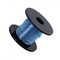 Blue Beading Copper Craft Wire 0.50mm 25 Metre Reel