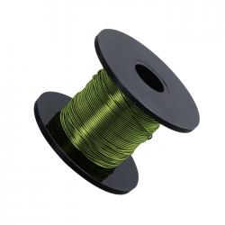 Leaf Green Beading Copper Craft Wire 0.50mm 25 Metre Reel