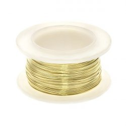 Brass Craft Wire for Jewellery Making 0.40mm - 16 yards