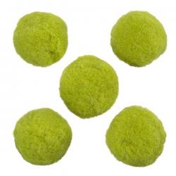 Round Green Wool Pom Pom Ball Beads 20mm Pack of 5 (PK5)
