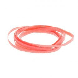Coral 3mm Double Faced Satin Jewellery Ribbon 1 metre