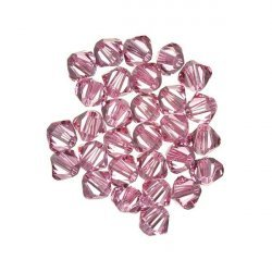 Swarovski Crystal Xilion Bicone Beads (223) Light Rose 4mm