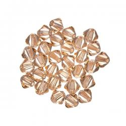 Swarovski Crystal Bicone Beads (362) Light Peach 4mm PK30