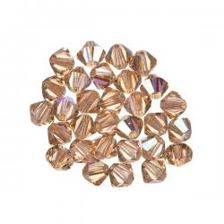 Swarovski Crystal Bicone Beads (362) Light Peach AB 4mm