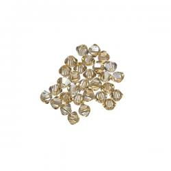 Swarovski Bicone Beads (001) Crystal Golden Shadow 2.5mm
