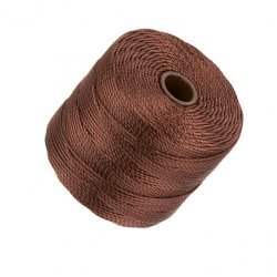 Beadsmith Superlon Bead Cord Brown 0.5mm 77 Yards (70m)