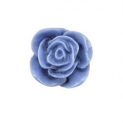 Acrylic Blue Rose Flat Back Cabochon 22mm PK1