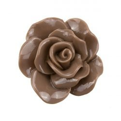 Acrylic Brown Rose Flat Back Cabochon 30mm PK1