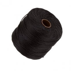 Beadsmith Superlon 0.5mm Bead Cord Black 77 Yards (70m)
