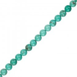 "Blue Turquoise Round Gemstone Beads 6mm 15.5"" Strand"