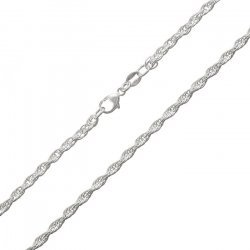 """Sterling Silver 925 POW Rope Chain Finished Necklace 18"""""""