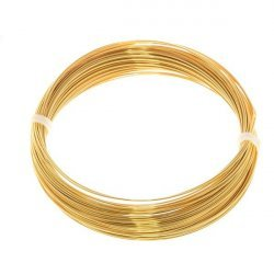 Bead Craft Wire Gilt on Copper 0.50mm - 15 Metres
