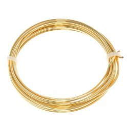 Bead Craft Wire Gilt on Copper 1.25mm - 3 Metres