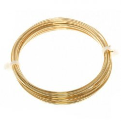 Bead Craft Wire Gilt on Copper 1mm - 4 Metres