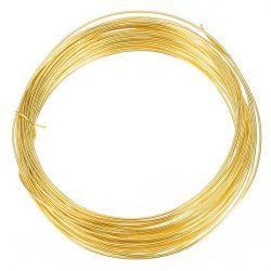 Gold Plated Copper Wire for Jewellery Making 0.80mm - 6m
