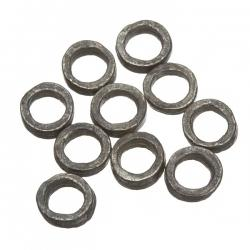 Antique Silver Washer Ring Spacer Beads 8mm PK10