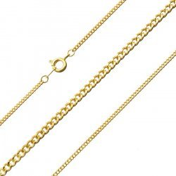 Gold Plated Facet Complete Curb Chain with Bolt Clasp 16""