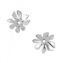 11mm Bead Caps Antique Sterling Silver Flower Petal Cup