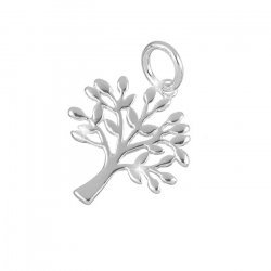 Sterling Silver Charm Tree Of Life Symbol Pendant 17mm