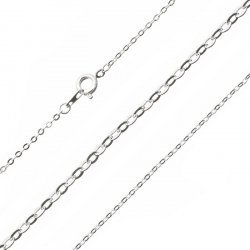 """Silver Plated Oval Link Fine Trace Chain Ready Made 16"""""""