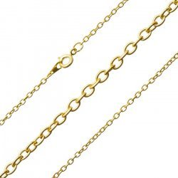 """Gold Plated Oval Link Medium Trace Chain Ready Made 18"""""""