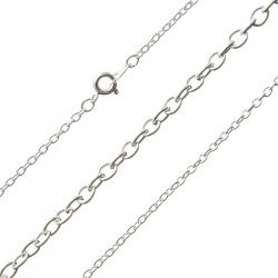 Silver Plated Oval Link Medium Trace Chain Ready Made
