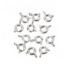 Silver Plated Bolt Ring Clasp/Trigger Fasteners 6mm PK10