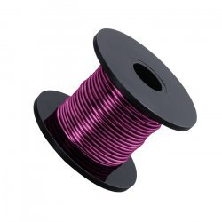 Violet Coloured Beading Copper Craft Wire 0.90mm 8 Metres