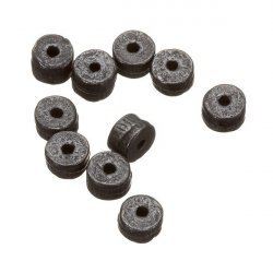 Black Gunmetal Spacer Metal Washer Beads 5mm PK10