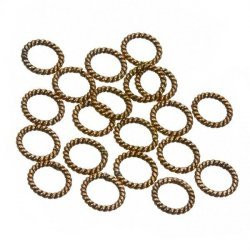 Metal Copper Twisted Rope Ring Spacer Beads 8mm PK20