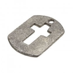 Antique Silver Cut Out Cross Tag Charm Pendants 30x22mm PK1