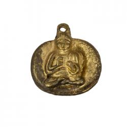 Antique Gold Meditating Sitting Buddha Pendants 22mm PK1