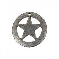 Captain America Cut Star Charm Pendants Antique Silver 18mm