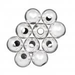 8mm Silver Plated Round Spacer Beads Hole Size 3mm PK10