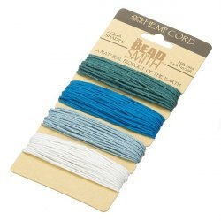 Beadsmith Natural Hemp Cord 1.00mm Aqua 20lb Test 4x9.1m
